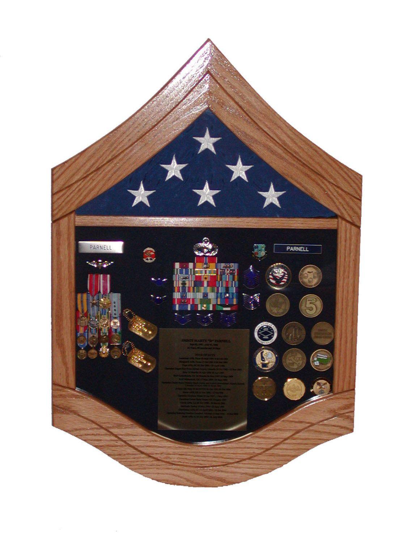 Air Force Senior Master Sergeant (E8) Shadow Box 3x5