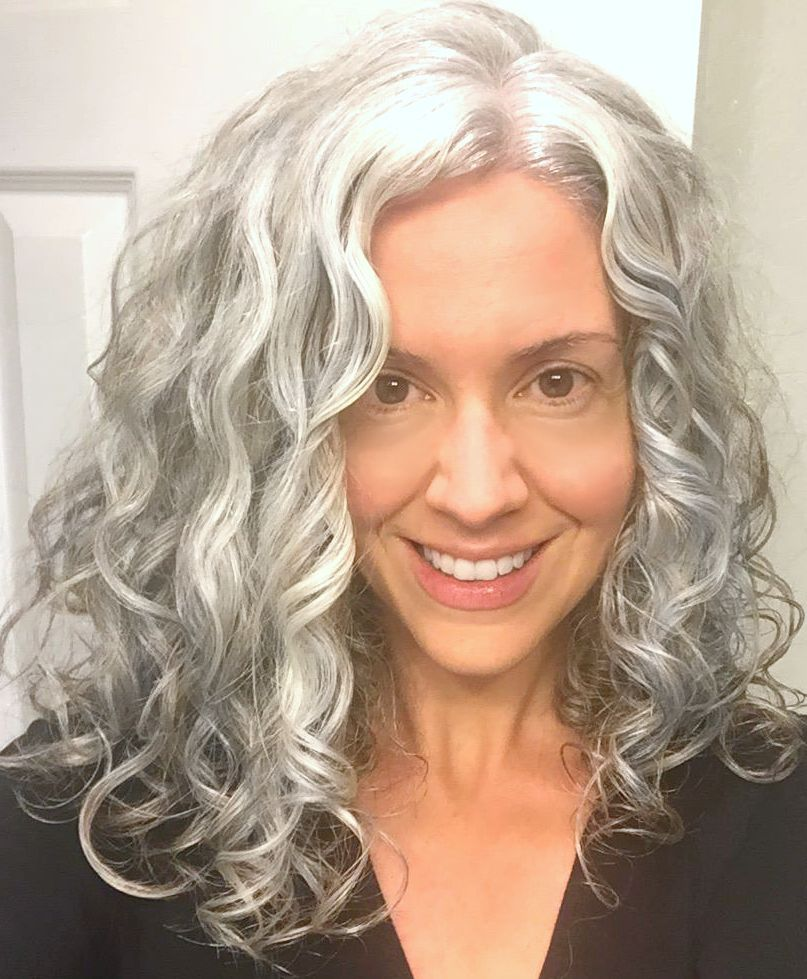 C6867756191fc78ae7aa2786cc3e36e7 Jpg 807 979 Pixels Long Gray Hair Grey Curly Hair Grey Hair Inspiration