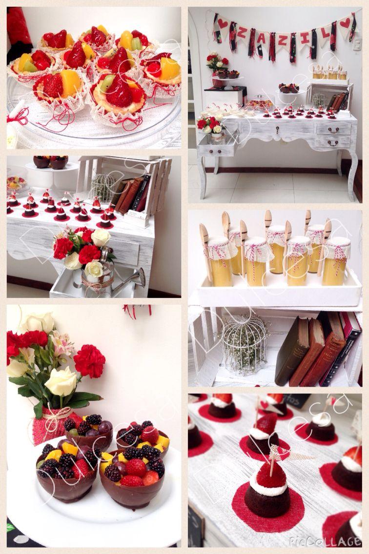 Mesa de dulces vintage postres rojo despedida de - Mesa de dulces para boda ...