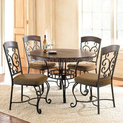 Greco Dining Room Set Round Dining Table Sets Dining Chairs Wrought Iron Dining Table
