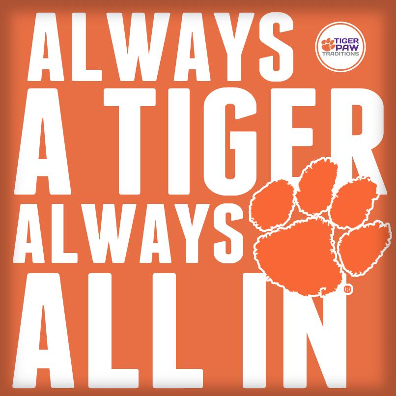 Clemson Tigers Paw Deathvalley Orange AllIn