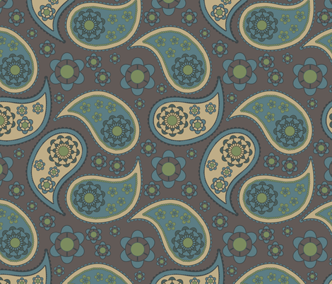 paisley fabric by suziedesign on Spoonflower - custom fabric