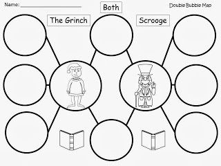 Free: The Grinch and Scrooge Compare and Contrast Double