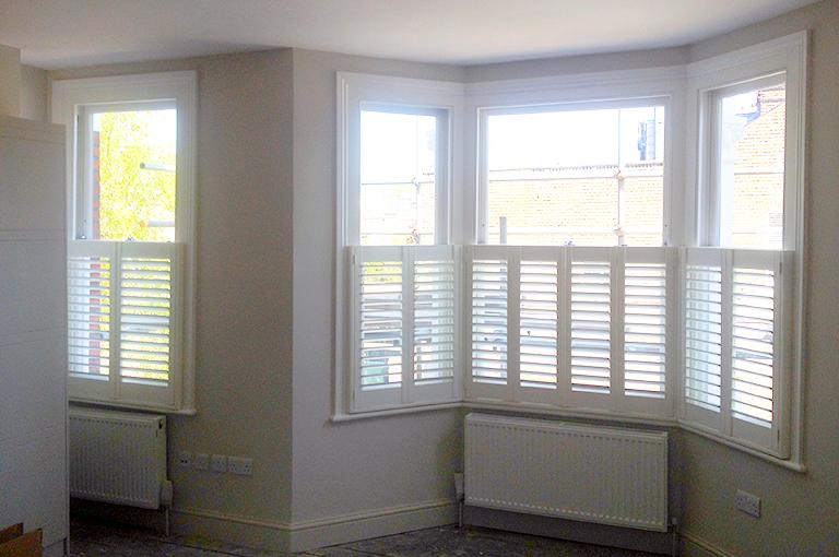 Shutters For Bay Windows By Plantationshutters London Uk Bay Window Shutters Pinterest