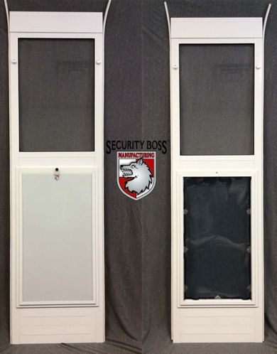 Most Pet Door Models On The Market Simply Cannot Be Used By Large Or Giant  Dog Breeds. Security Boss Designed A Patio Pet Door Insert To Accommodate  Even ...