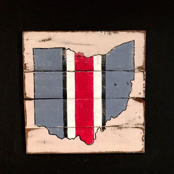 Ohio State Wall Art ohio state helmet sign / ohio state buckeyes wall art | ohio state