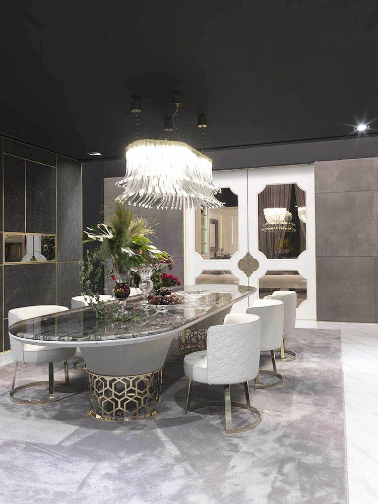 The luxury Italian designer Dalma suspension lamp