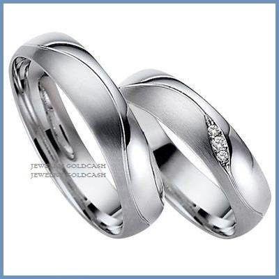 5d45eec510bd Exclusivas Argollas De Oro Blanco Y Plata Matrimonio Regalo ...