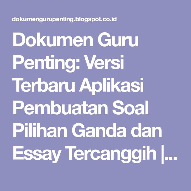 Soal Essay Tentang Proposal Dan Jawabannya