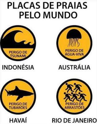 Placas De Praias Pelo Mundo Pontos Humor Funny E Jokes