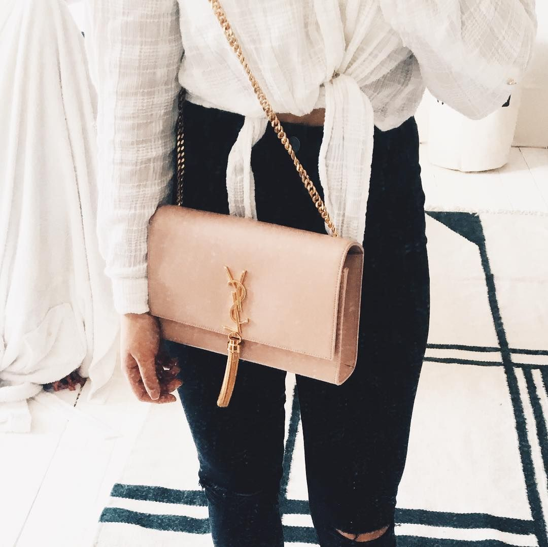 Smitten With Blush Pink Pink Bags Outfit Ysl Tassel Bag Ysl Kate Bag