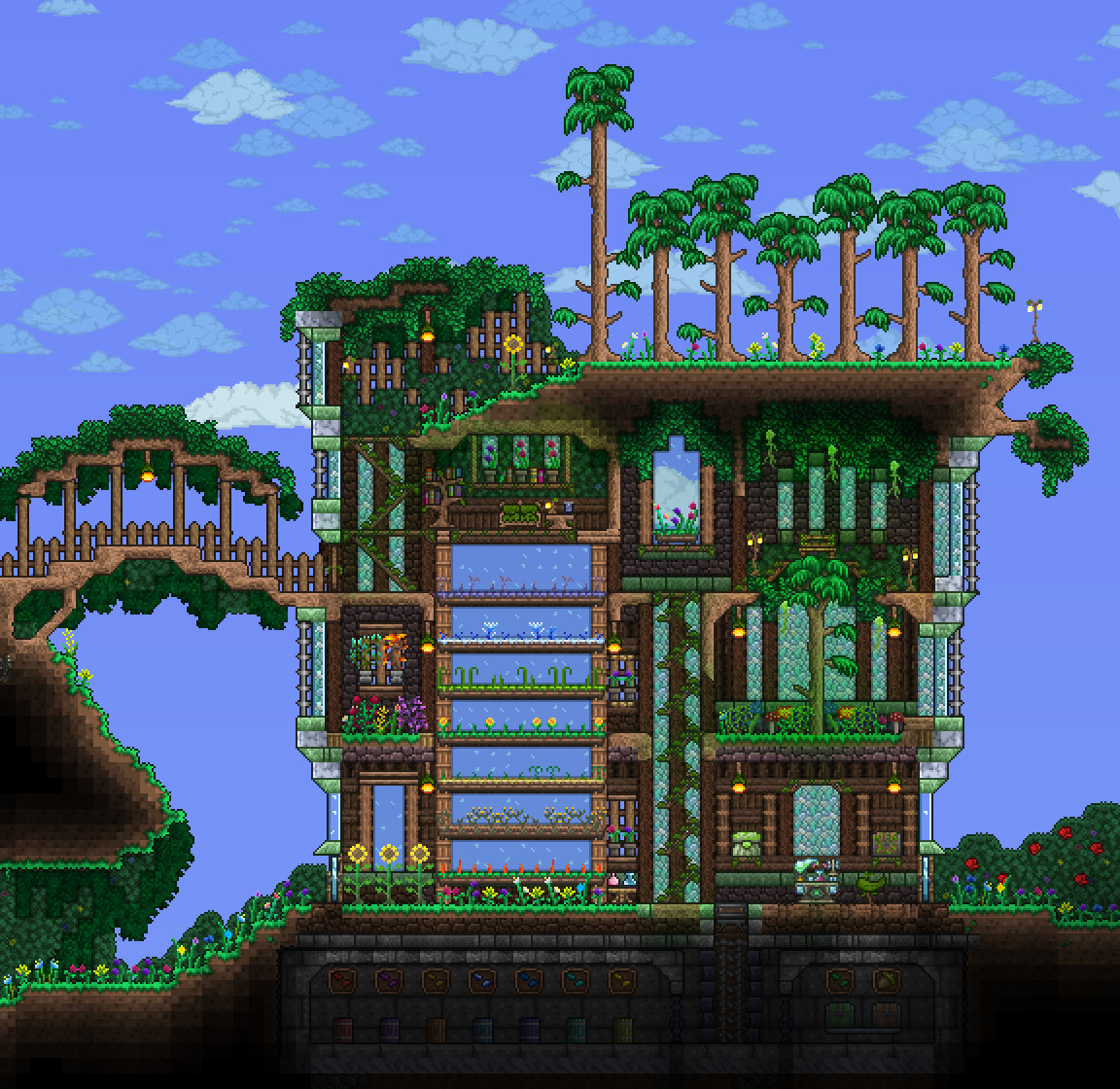 Sky Island Greenhouse Idea Minecraft Greenhouse Terraria House