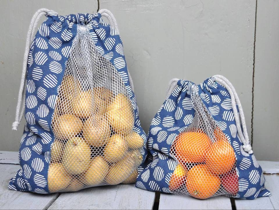 Plastikmüll vermeiden! Gemüse- oder Brotbeutel zum Einkaufen selber nähen