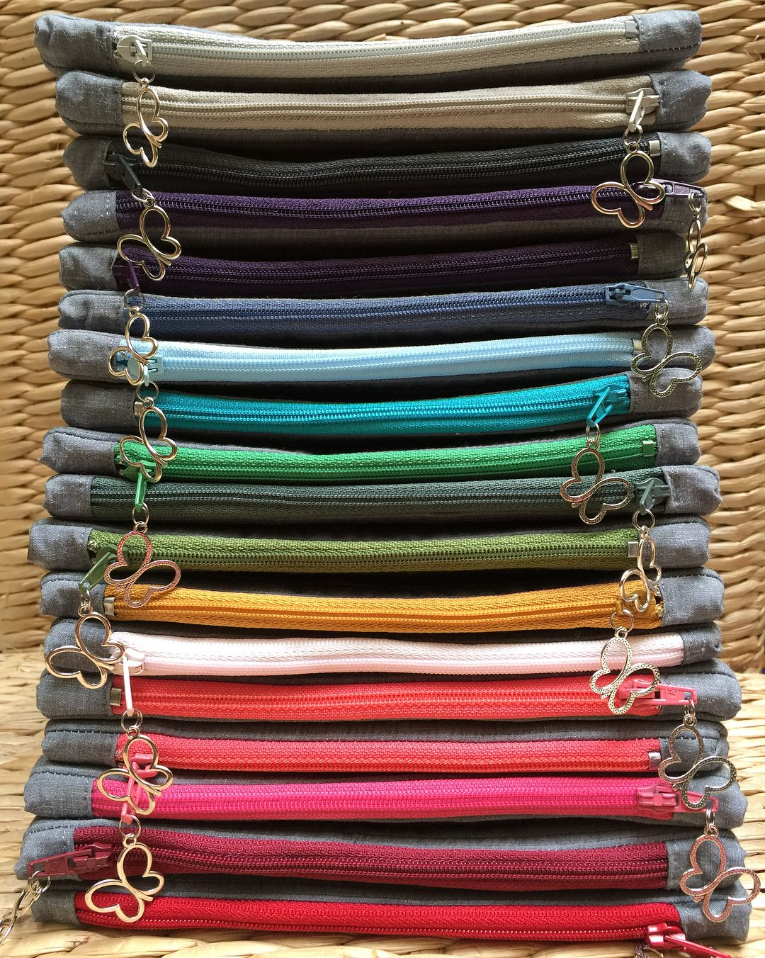 Finishing touches 🦋 #zipperpouch #zipper #rainbow #butterfly #shechasesbutterflies #handmade #handsewn #supportlocal #buyhandmade