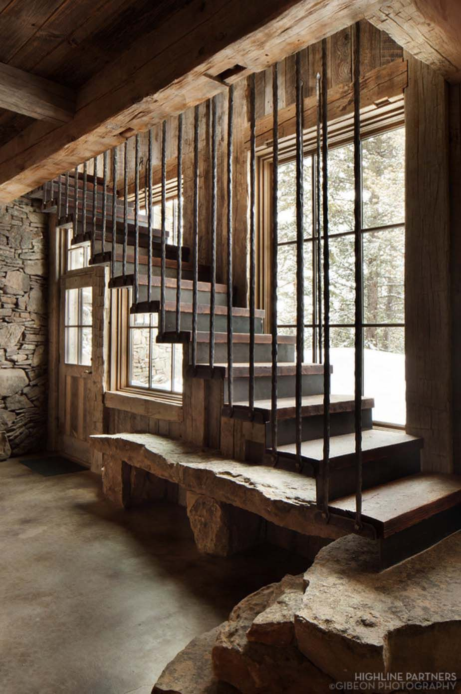 A Rustic Mountain Retreat Perfect For Entertaining In Big