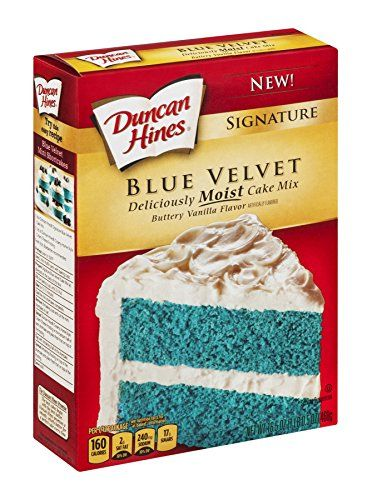 Duncan Hines Signature Blue Velvet Cake Mix 165oz Box Pack Of 4 More Info Could Be Found At The Image Url This Is An Affiliate Link And I