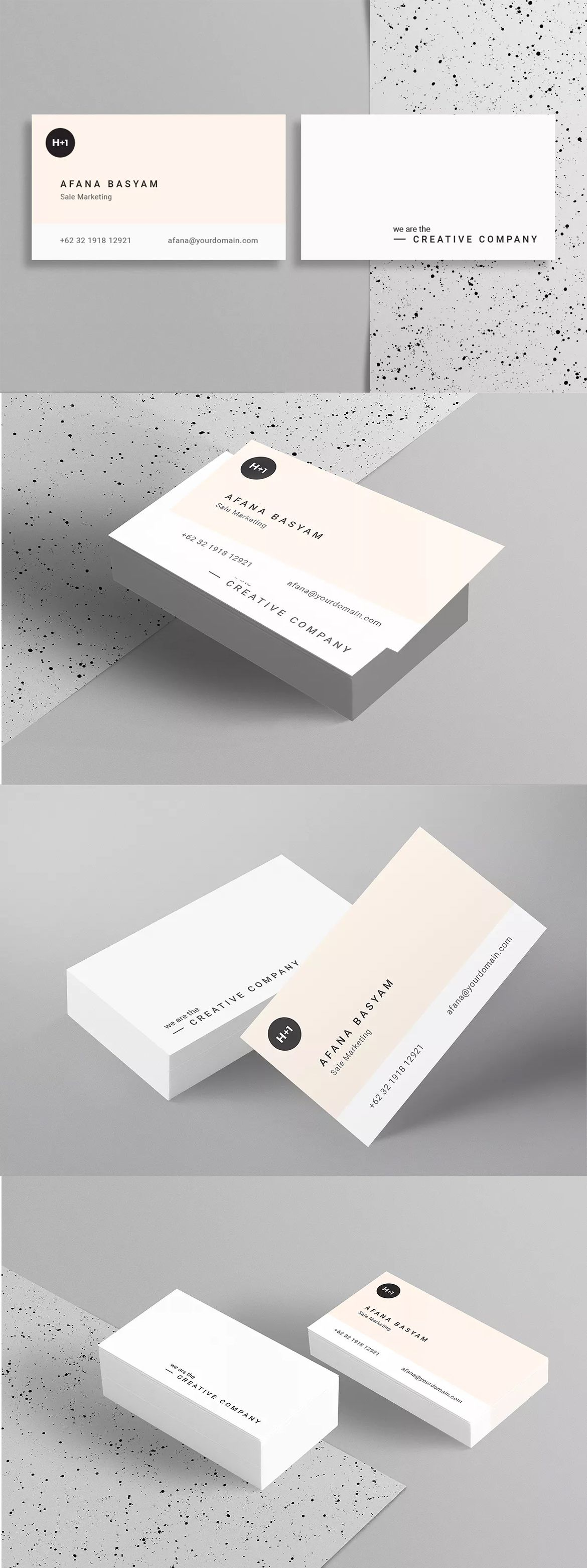 Business Card Template InDesign INDD | Business card | Pinterest