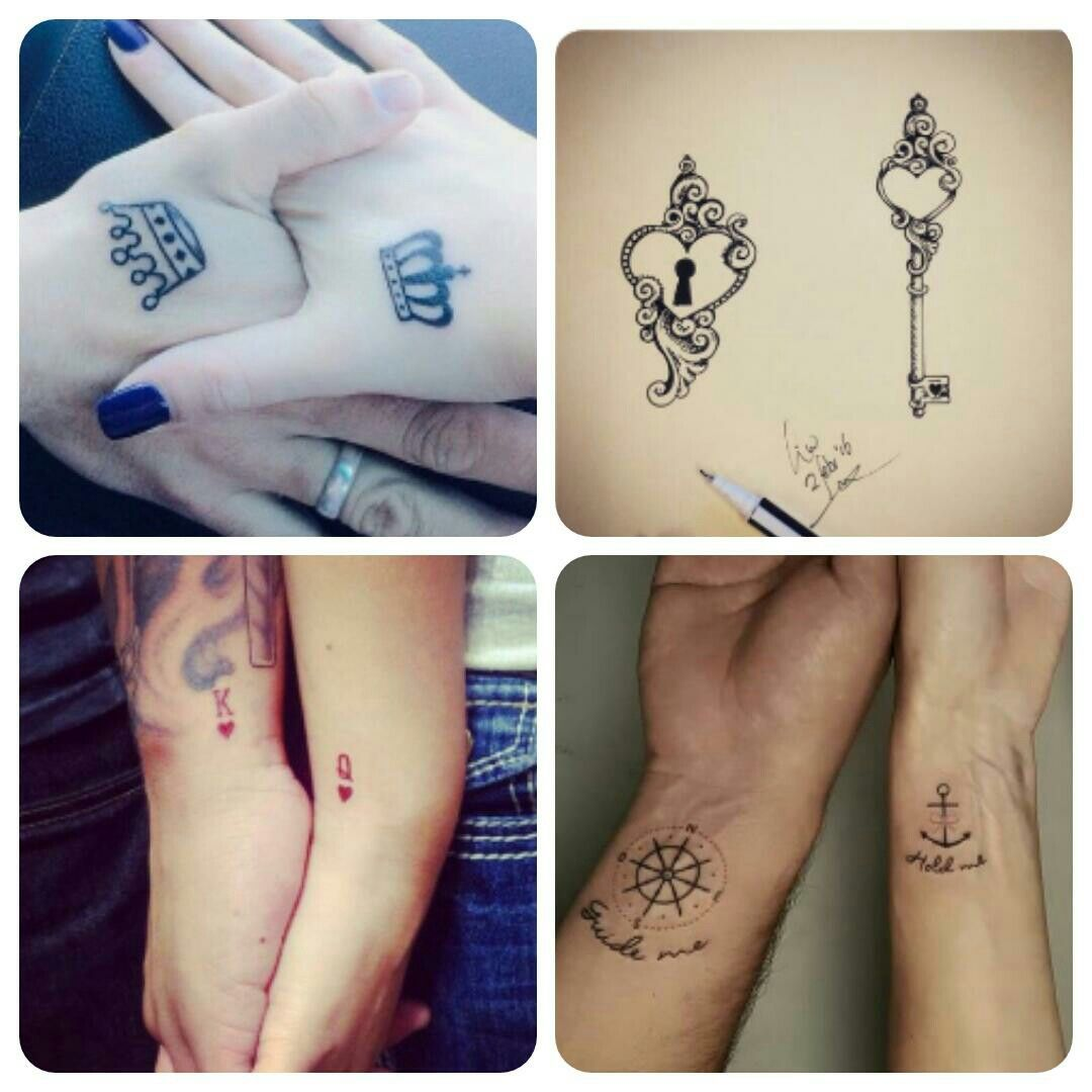 Adorable matching couple tattoos   Cute tattoos for women, Tattoos ...