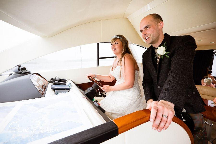 Who's in the driving seat now...? #www.ianarthur.co.uk  #wedding #photographer #Argyll #Loch_Lomond