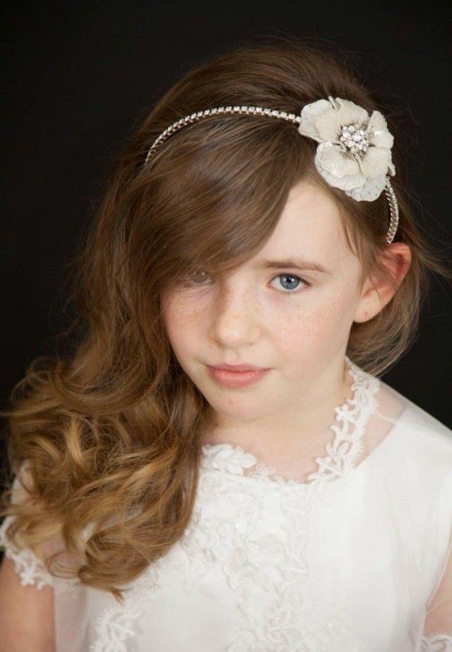 Enfants Little Princess Hairband Mariage Voiles Fleurs Fête de Mariage Bandeau