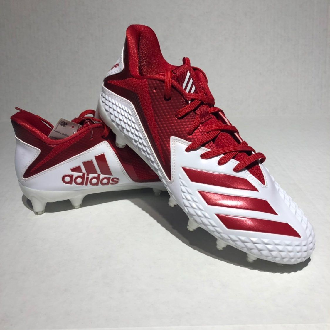 New adidas mens freak x carbon football cleats whitered