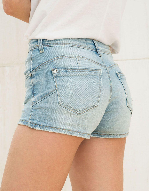 6c832c3fa2b Bershka Indonesia - Push up denim shorts