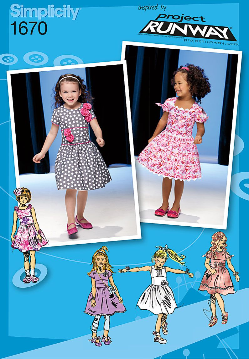 Simplicity creative group toddlers and childs dress project precious dresses for little girls simplicity 1670 new sewing pattern sz grey polka dot pattern in black fabric jeuxipadfo Choice Image