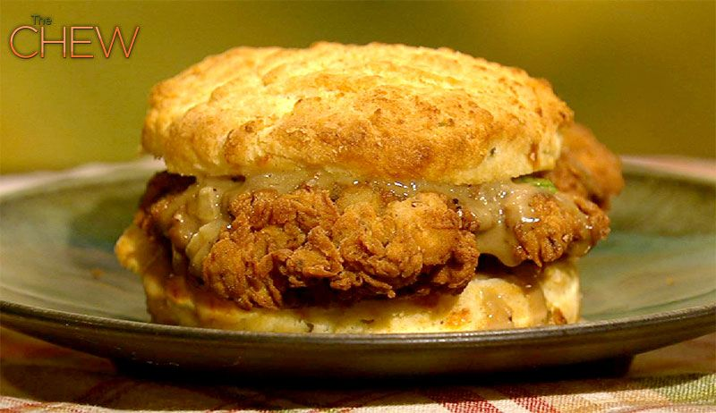 Emeril's Chicken and Biscuits with Redeye Gravy #thechew