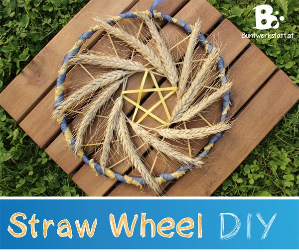 How to do a Straw Wheel craft – DIY amazingly easy wheat weaving tutorial for this beautiful wreath