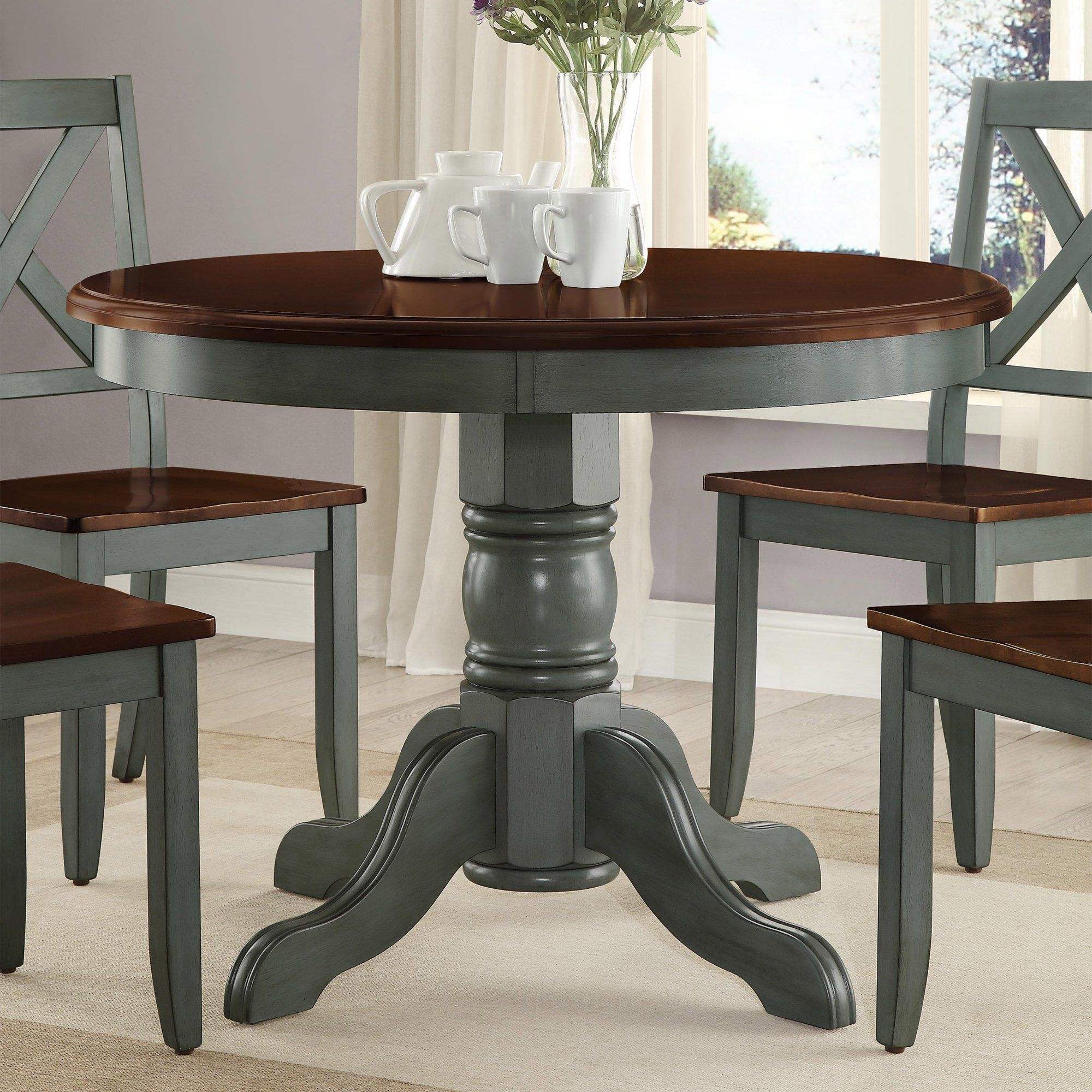 Better Homes And Gardens Cambridge Place Dining Table Multiple Finishes Walmart Com In 2021 Country Kitchen Tables Dining Table Makeover Painted Kitchen Tables