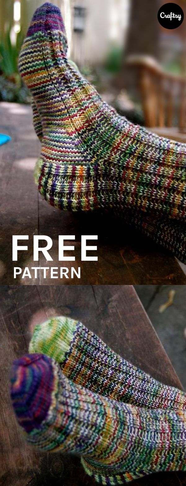 A Study in Scraps: Sock #1 | Knitted socks free pattern ...