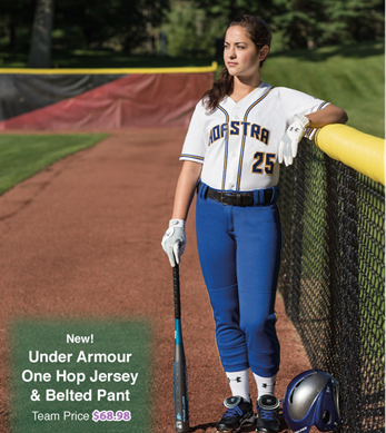241fab8b22d Create a classic softball uniform for your team this season with the Under  Armour One Hop Jersey and Belted Pant! #UnderArmour #UA #Softball  #Fastpitch #New ...