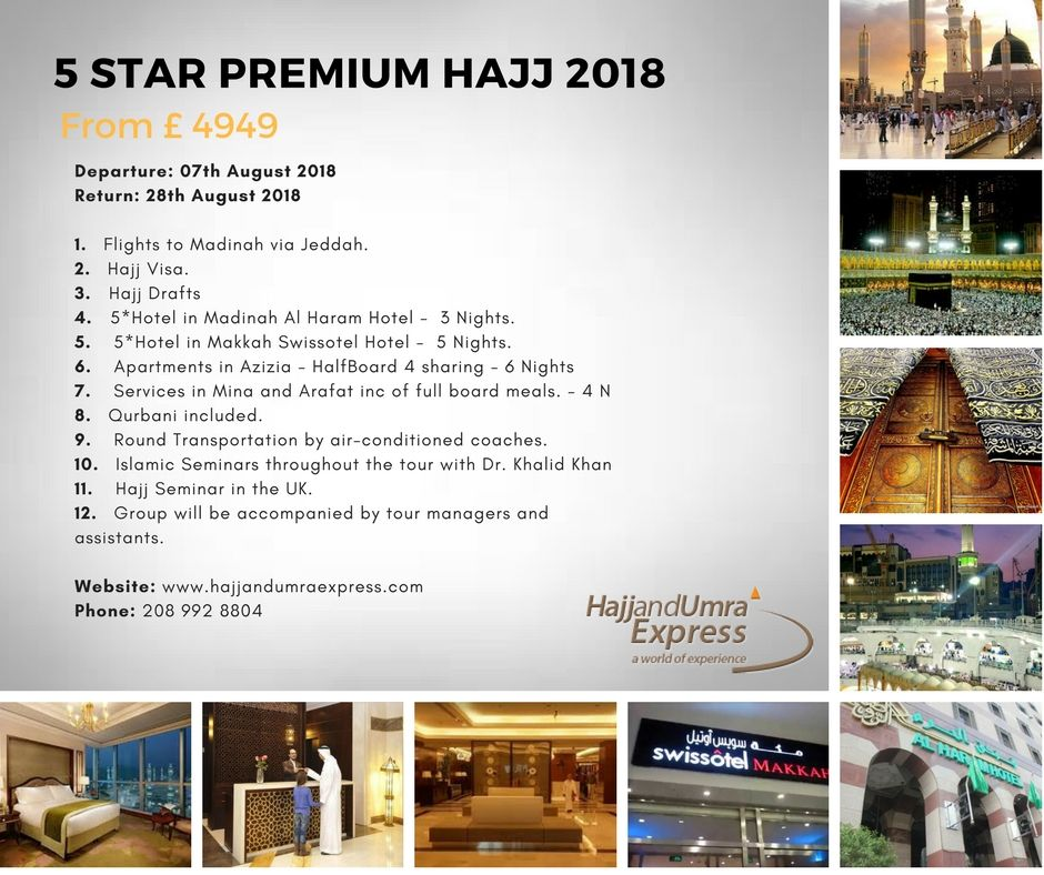 Travel Express offers exclusive Hajj packages for with