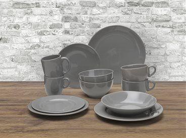 grijs serviesgoed