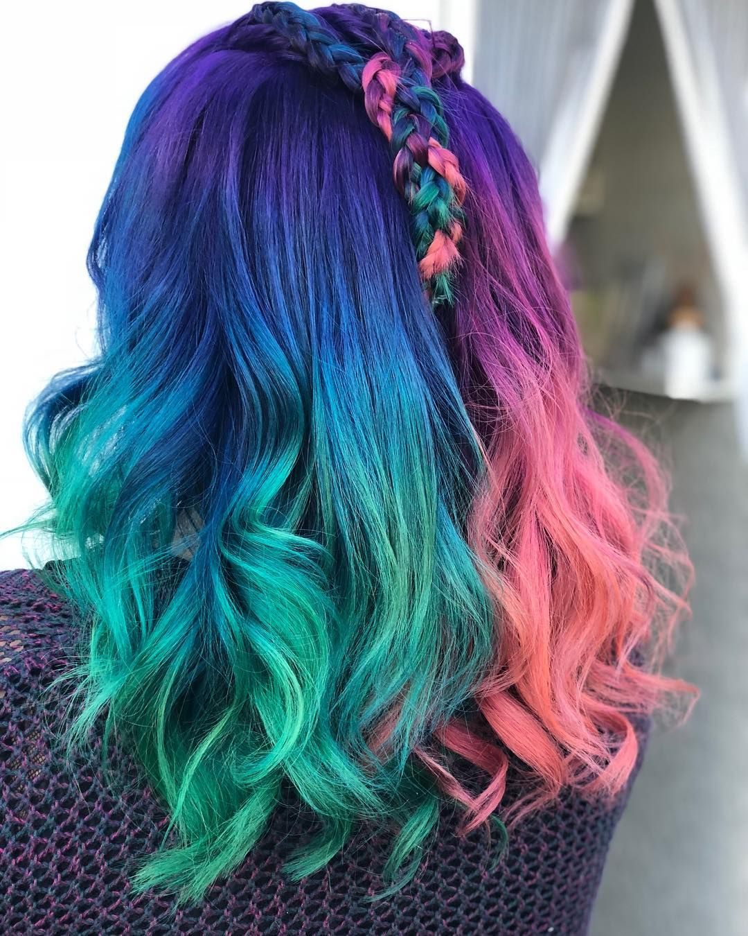 Arctic Fox Hair Color Arctic Fox Hair Color Mermaid Hair Color Cool Hair Color