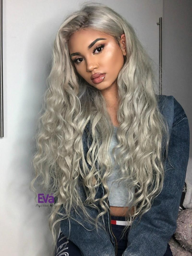 Platinum Blonde Full Lace Virgin Human Hair Wig 16 Blonde Hair Black Girls Wig Hairstyles Platinum Blonde Hair