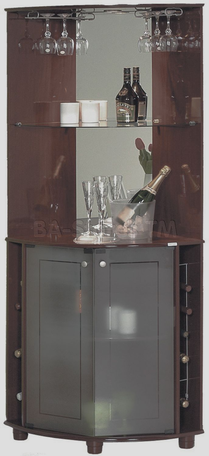 Miami Tobacco Corner Bar. Black and White Modern Minimalist Corner Home Bar   Stylish