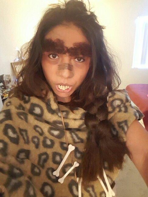 Cavewoman costume for Halloween. Using liquid latex to raise ...