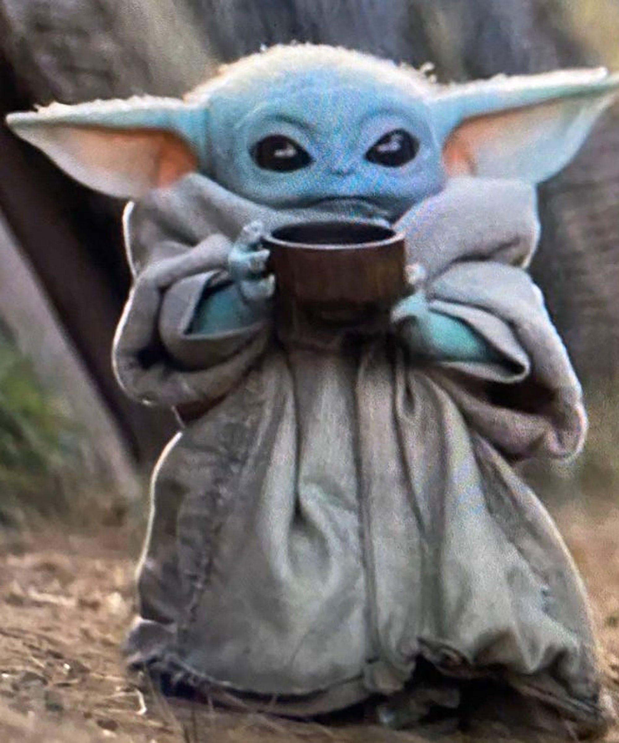 Baby Yoda Drinking Soup Is Taking Over The Yoda
