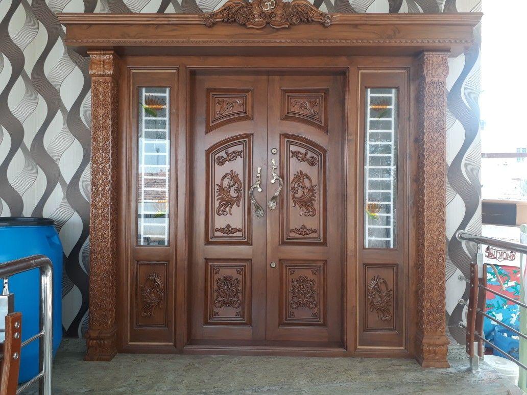 Pin By Ravindranathan V Kunnath On Door Double Door Design Door Design Wooden Main Door Design