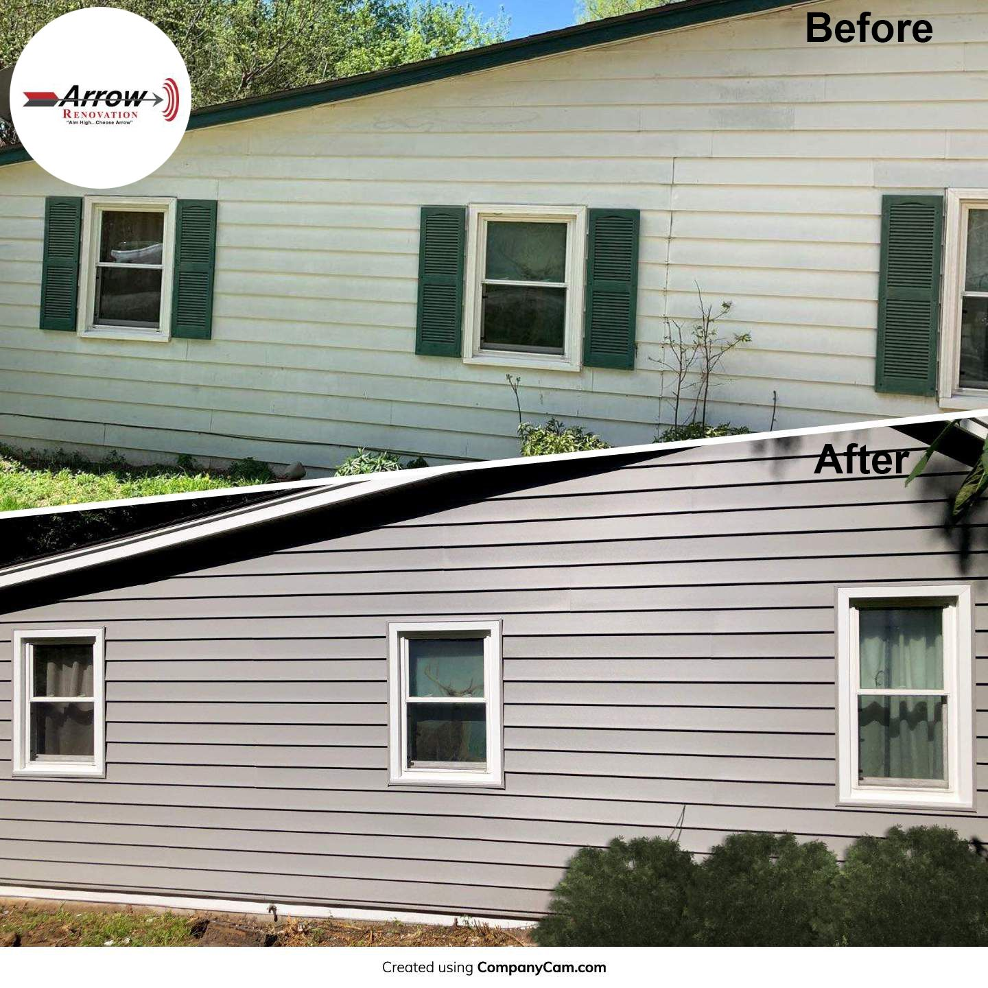 Craneboard Vinyl Siding Installed On Kansas City Mo Home Along With New Gutters Fascia And Soffit Let Arrow Help You Call Today Fo Vinyl Siding Home Siding