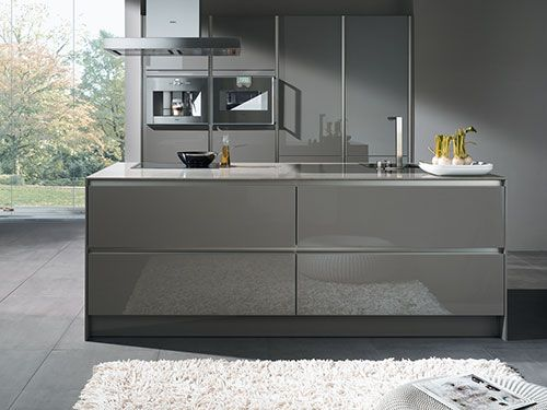 Hoogglans Grijs Keuken : Interieur inrichting keuken grijs hoogglans keuken cocinas