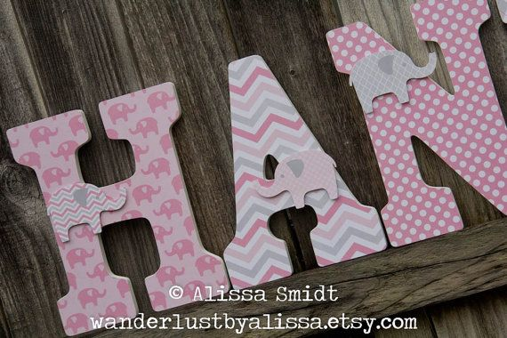 12 Inch Size Large Nursery Letters Custom Wooden