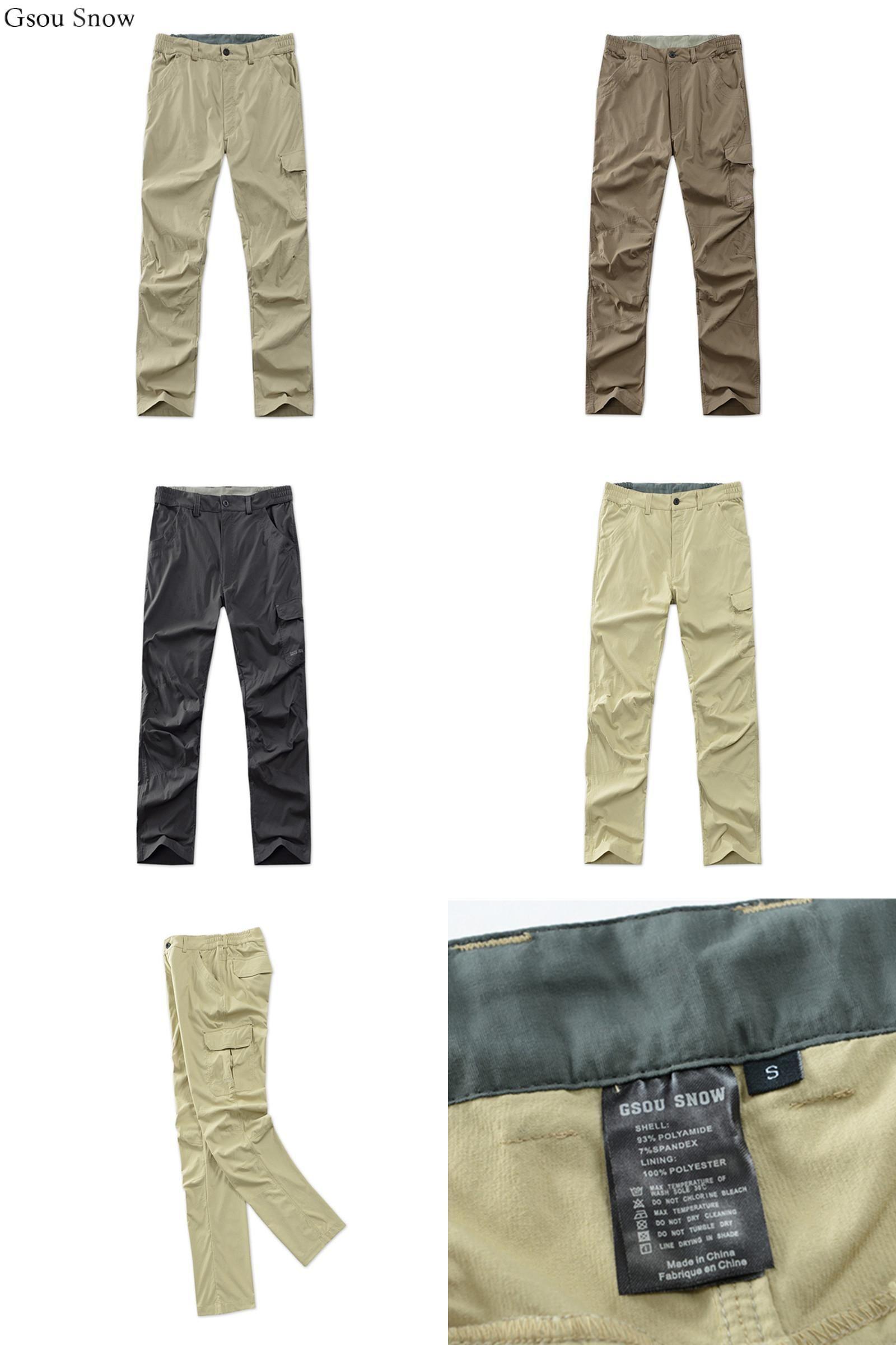 Visit To Buy Gsou Snow New Outdoor Hiking Pants Men Pantaloni Trekking Pants Trousers Fishing Camping Pantal Hiking Pants Hiking Pants Mens Best Hiking Shoes