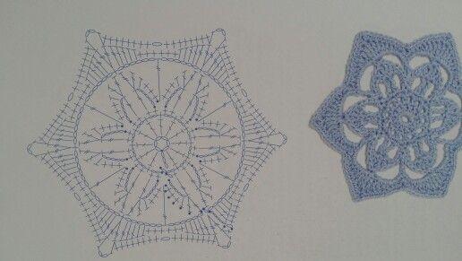 Snowflake 18 | Crochet | Pinterest | Stern häkeln, Schneeflocken und ...