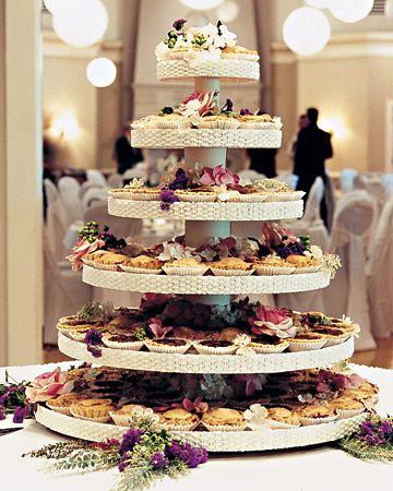 Tower of mini wedding pies