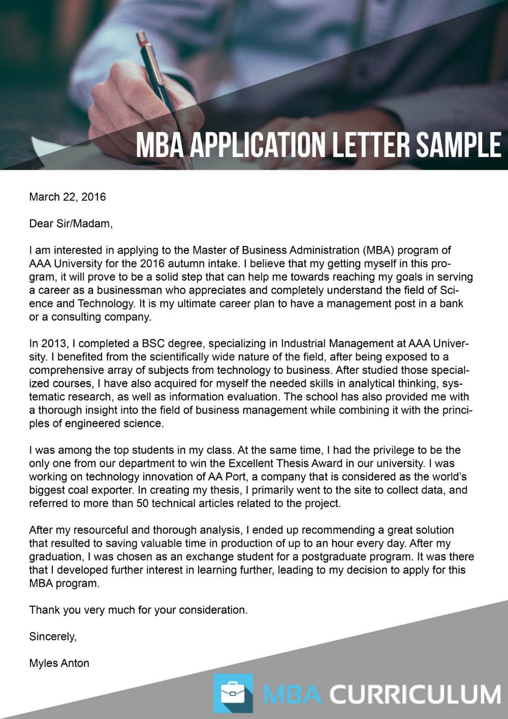 HttpWwwMbacurriculumNetWritingMbaApplicationLetter