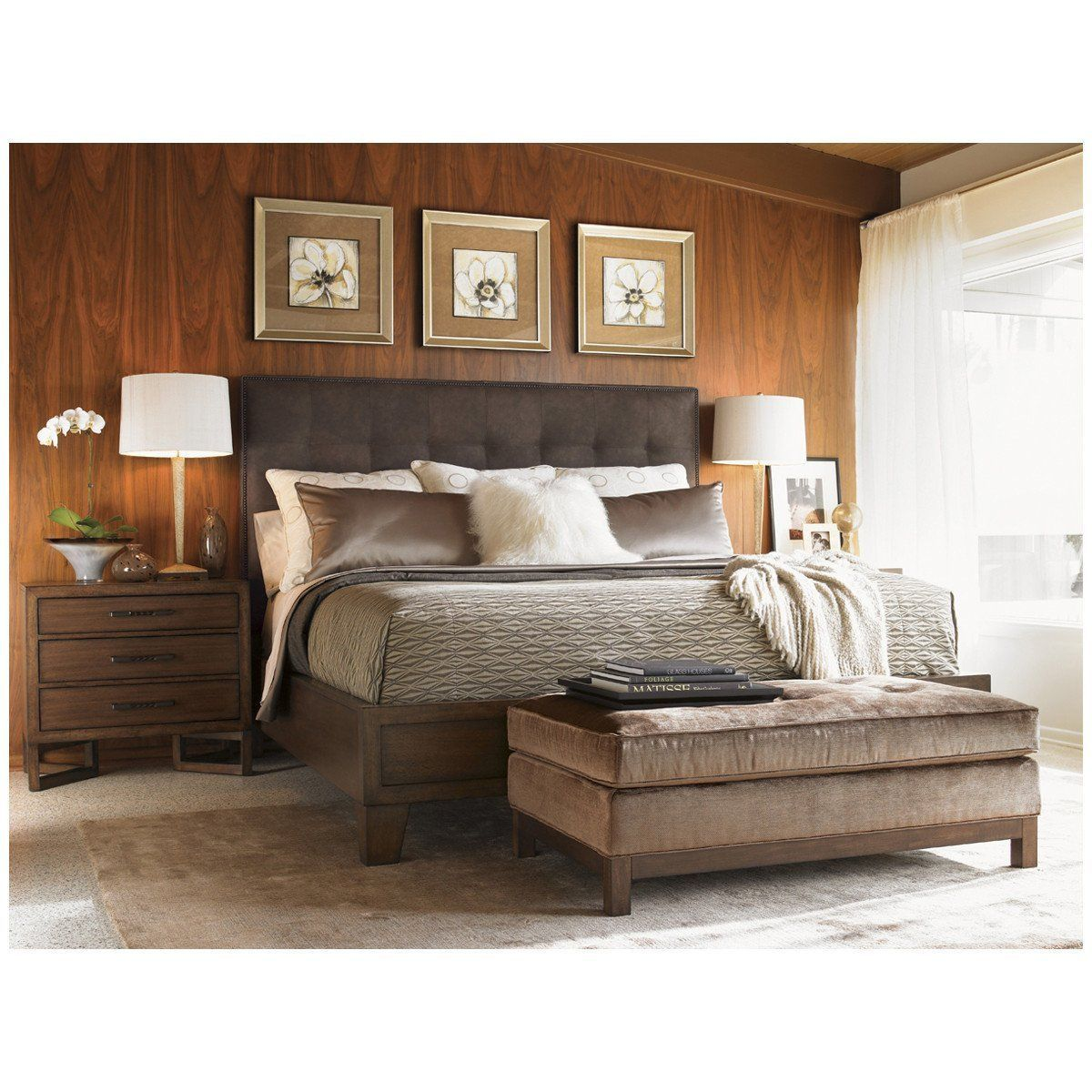 Best Lexington 11 South Westin Ottoman Modern Rustic Bedrooms 400 x 300