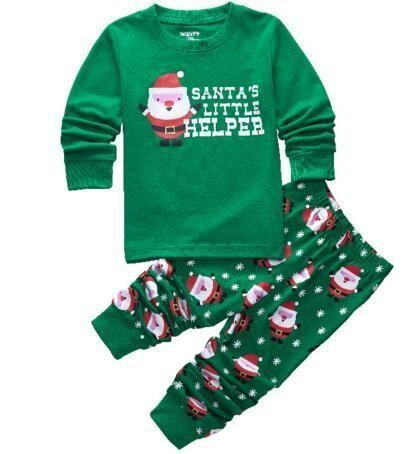 Christmas Print Toddler  Children\u0027s Pajamas - 2 Piece Sets - Boys