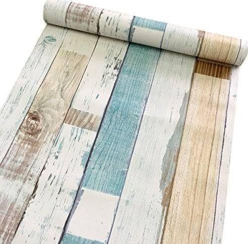 Beach Themed Contact Paper Wallpaper Shelves Cute Apartment Decor Drawer Liner